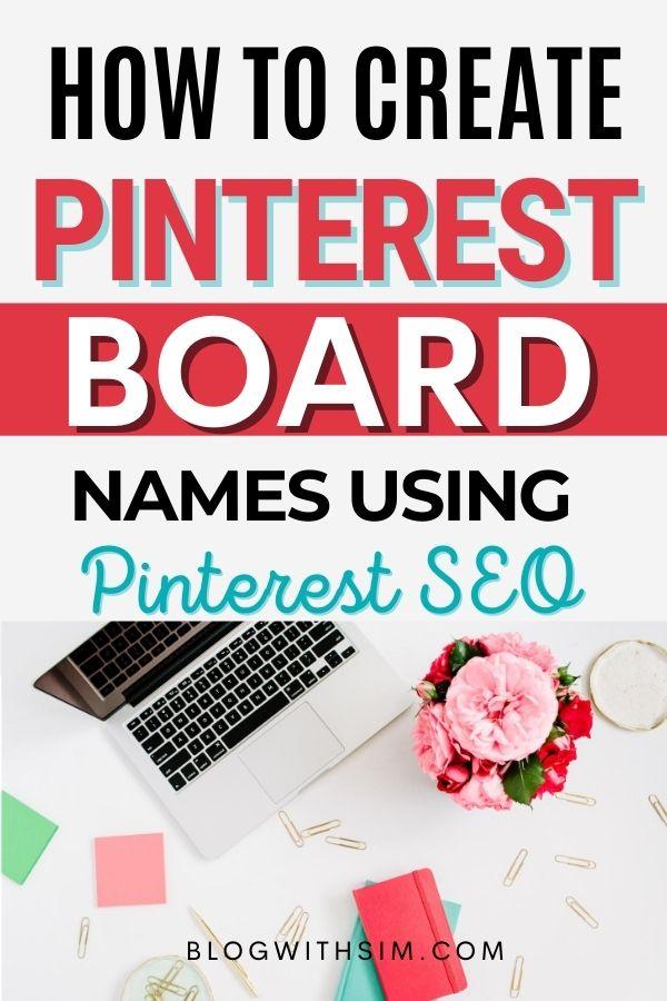 PINTEREST BOARD NAMES