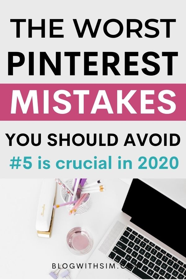 Pinterest mistakes to avoid on any cost